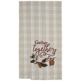 Gather Together Plaid Kitchen Towel