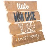 Little Man Cave Wood Decor