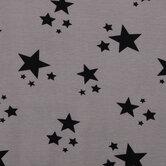 Gray & Black Stars Knit Fabric