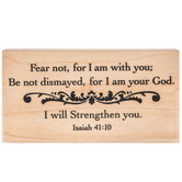 I Will Strengthen You Rubber Stamp