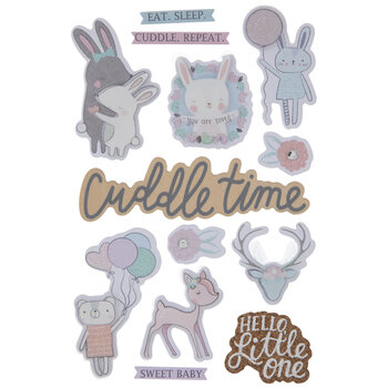 Cuddle Time 3D Stickers