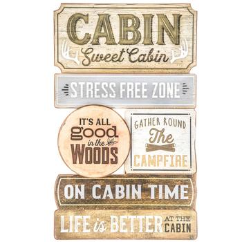 Cabin Sweet Cabin Wood Wall Decor