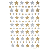 Gold & Silver Star Foil Stickers