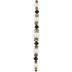 Black & White Glass Pearl & Rhinestone Bead Strand
