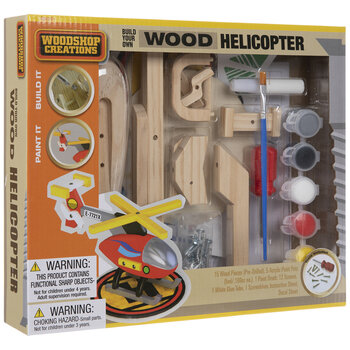 Build Your Own Wood Helicopter Kit