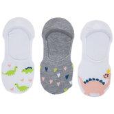 Dinosaurs & Hearts Liner Socks