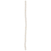White Round Rivershell Bead Strand - 6mm