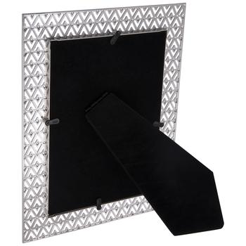 """Silver Diamond Cutouts Metal Frame - 5"""" x 7"""""""