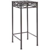 Brown Swirls Square Metal Plant Stand