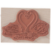 Loving Swans Rubber Stamp
