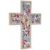 Watercolor Floral Wood Wall Cross
