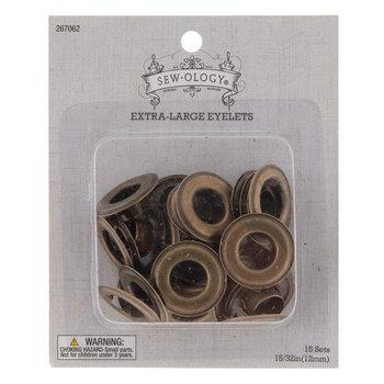 "Antique Brass Eyelets - 15/32"""