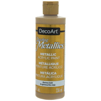 Glorious Gold Dazzling Metallics Acrylic Paint - 8 Ounce