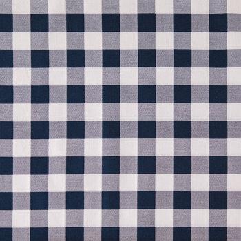 Navy & White Buffalo Check Apparel Fabric