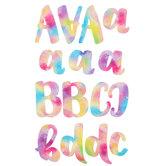 Bright Watercolor Handwritten Alphabet Stickers