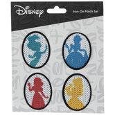 Disney Princess Silhouettes Iron-On Appliques
