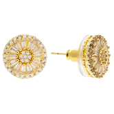 Round Zircon Earrings