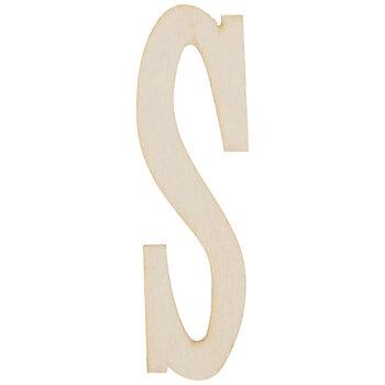 "Vintage Sign Wood Letters S - 4"""