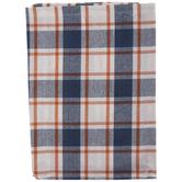 Blue, Orange & White Plaid Cloth Napkins