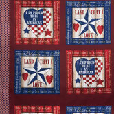 American Pride Cotton Calico Fabric Panel