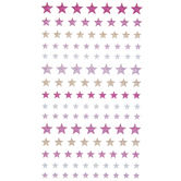 Pink, Gold & Silver Star Shimmer Stickers