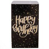 Black & Holographic Happy Birthday Treat Sacks