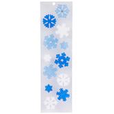 Snowflake Gel Window Clings