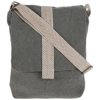 Green & Tan Juco Crossbody Handbag