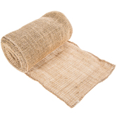 Natural & Gold Metallic Burlap - 6""