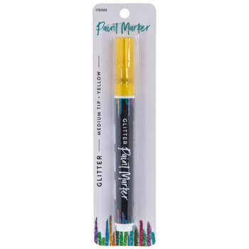 Yellow Medium Tip Paint Glitter Marker