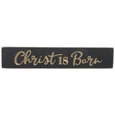 Christ Is Born Wood Wall Decor