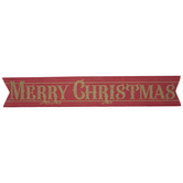 Red & Gold Glitter Merry Christmas Banner