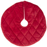 Mini Red Quilted Tree Skirt
