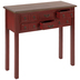 Red Wood Table With Drawers
