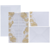 Gold Foil Floral Wedding Invitations