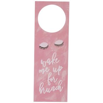 Wake Me Up For Brunch Door Hanger