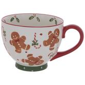 Gingerbread, Holly & Candy Cane Mug