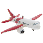 Red & White Airplane Ornament