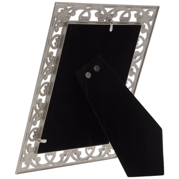 Pewter Open Scroll Metal Frame