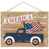 America Truck Wood Wall Decor