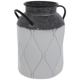 White Diamond Galvanized Metal Jug
