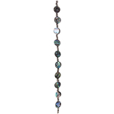 Abalone Disc & Glass Bead Strand
