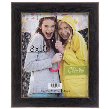 "Black & Gold Wood Wall Frame - 8"" x 10"""