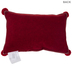 Red Merry Pillow With Pom Poms