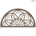 Fleur De Lis Arched Window Wood Wall Decor