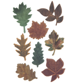 Fall Leaves 3D Stickers