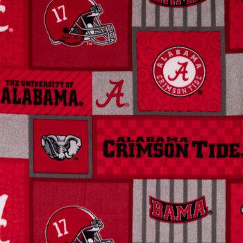 Alabama Block Collegiate Fleece Fabric