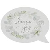 Choose Joy Word Bubble Wood Decor