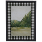 Forest & Plaid Framed Wood Wall Decor