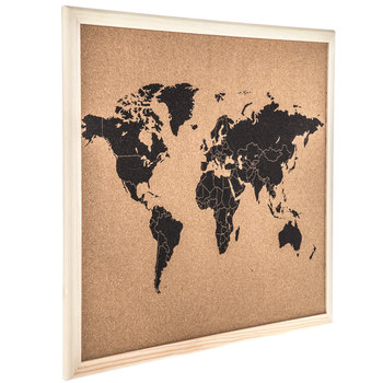 Framed World Map Corkboard